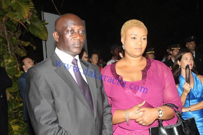 Serigne Mbacké Ndiaye et son épouse au cocktail de l'Ambassade de l'Espagne