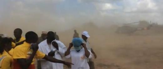 """VIDEO : Le """"couac"""" de l'hélicoptère du président Alpha Condé"""
