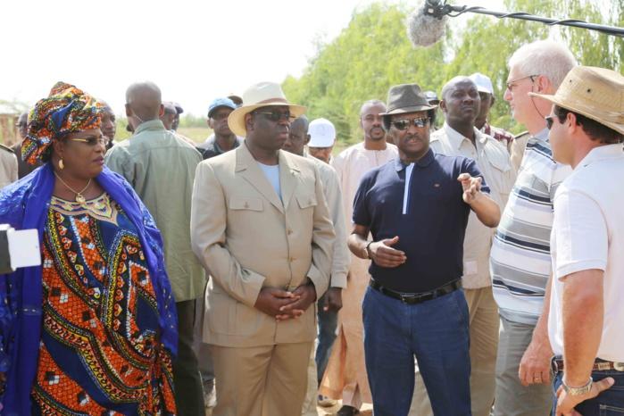 Visite du PR à la ferme de Diama où l'agriculture et l'élevage sont bien combinés