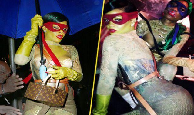 Rihanna super sexy en Tortue Ninja pour Halloween