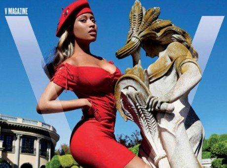 BEAUTÉ /Nicki Minaj : un anaconda bien chaud pour la nouvelle couverture de V magazine !!