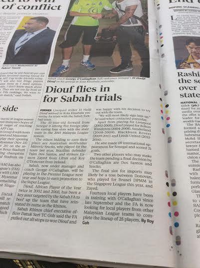 El Hadji Diouf en Malaisie pour des tests