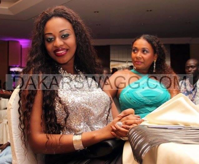 L'ancienne miss Sénégal Penda Ly pose avec Delphine Bathily, gérante de la Villa Krystal