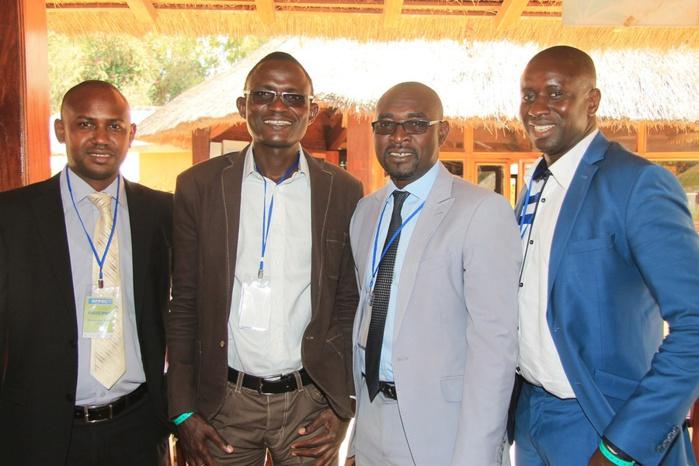 Samba Biagui de derniereminute.sn, en compagnie de Bamba Touré de sétal.net, Daouda Thiam de actusen.net et Mouhamadou Baldé de koldanews.com