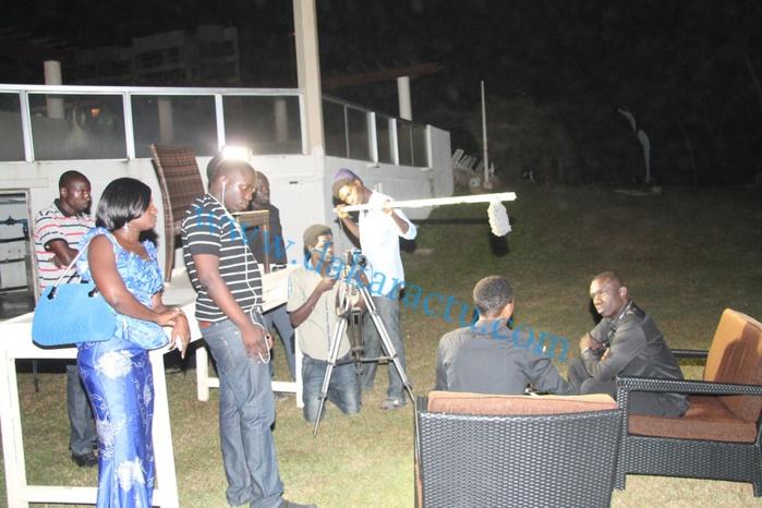 """Les images du tournage de l'émission """" Face à Dakaractu"""" avec Pape Diouf au King Fahd Palace"""