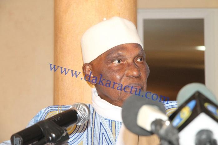 Les images de la conférence de presse du Président Abdoulaye Wade