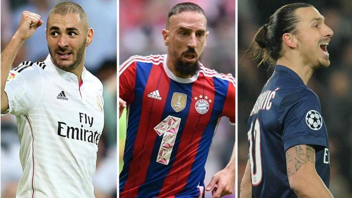 Benzema, Ribéry et Zlatan parmi les meilleurs attaquants de l'année