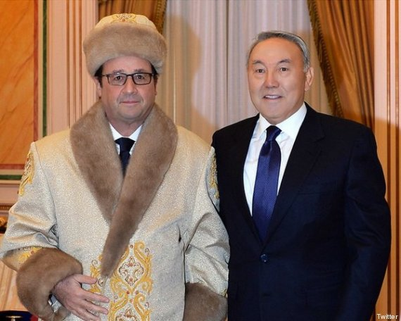Une photo de François Hollande en toque et pelisse de fourrure au Kazakhstan inspire le web et embarrasse l'Élysée