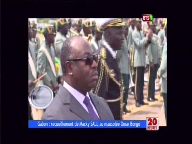 Gabon: Recueillement de Macky Sall au mausolée de Omar Bongo