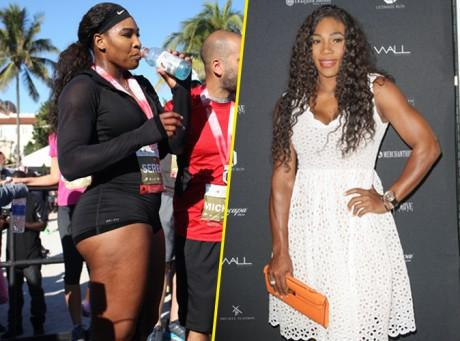 Serena Williams : gros bras et petite robe blanche