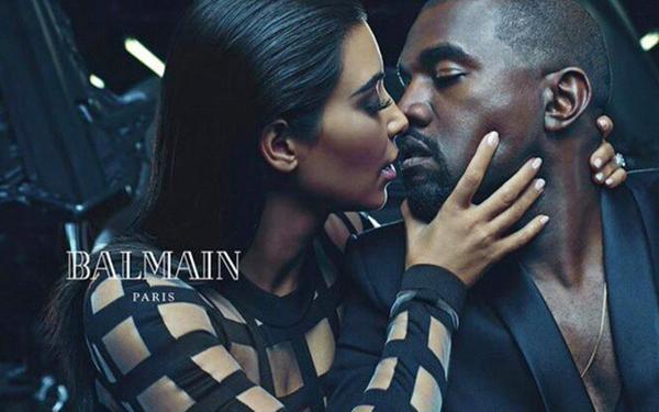 Kim et Kanye, le duo glam de Balmain