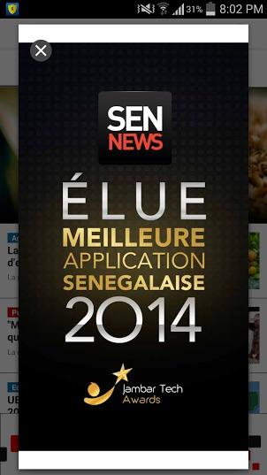 """""""Sen News"""" élue meilleure application sénégalaise de l'année 2014"""