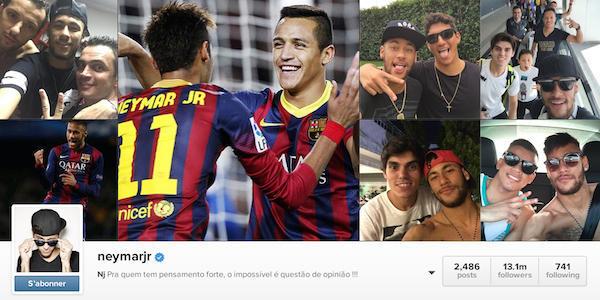 Quand Neymar conteste la suprématie de Cristiano Ronaldo sur les réseaux