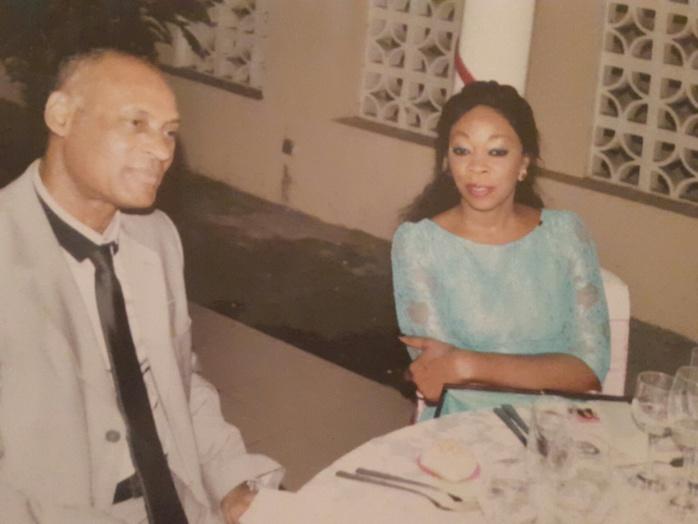 Aby N'dour en compagnie de son époux, Mamadou Berthé