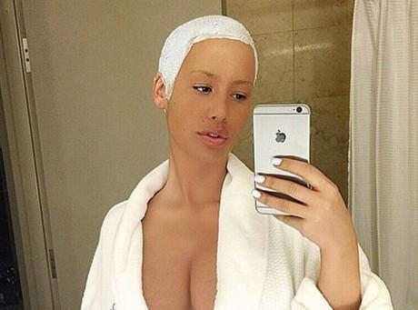 Amber Rose sans make-up cela donne ça !