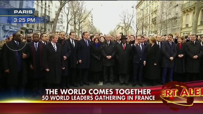 """Macky Sall à la """"marche républicaine"""" d'hommage aux victimes des attentats de Paris"""