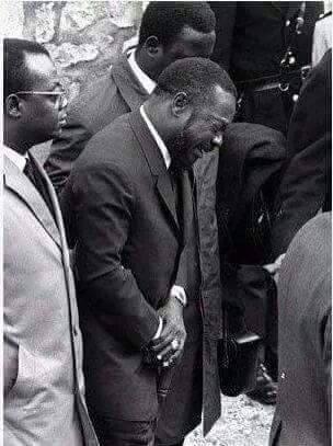 Bokassa aux funérailles de Charles De Gaulle