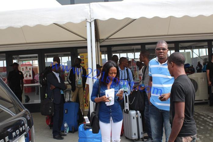 CAN 2015 : les images de l'arrivée des Journalistes sénégalais à Bata