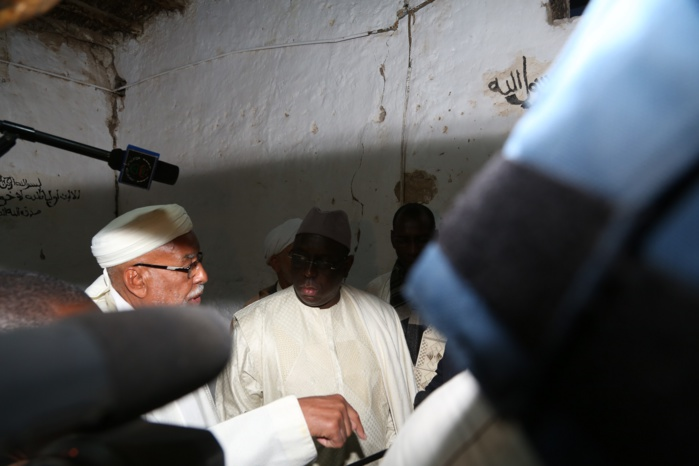 Les images de la visite du président Macky Sall à la Zaouia Ainou Mahdi
