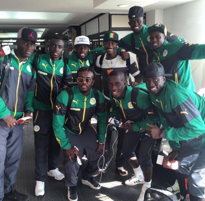 """Les """"lions"""" en train de quitter le Maroc pour se rendre en Guinée Équatoriale"""