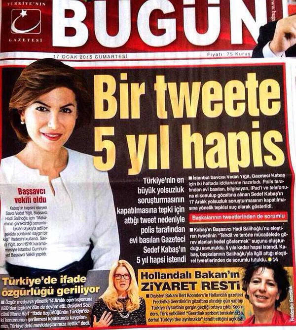 Cinq ans de prison requis contre une journaliste pour un tweet