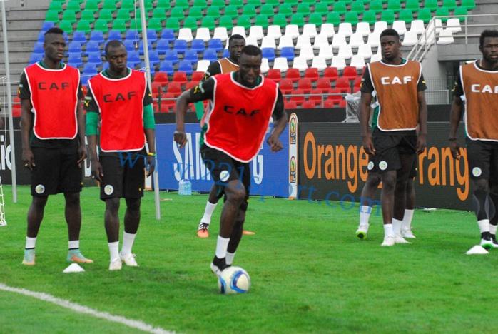 """Dernière séance d'entraînement des """"Lions"""" avant le match de demain contre Ghana"""