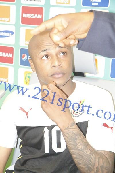"""André Ayew, capitaine des Black stars du Ghana """"Sénégal-Ghana sera un match entre deux équipes déterminées...."""""""
