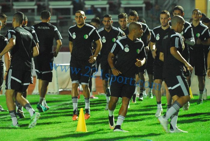 """Les images de la dernière séance d'entrainement des """"Fennecs"""" d'Algerie"""