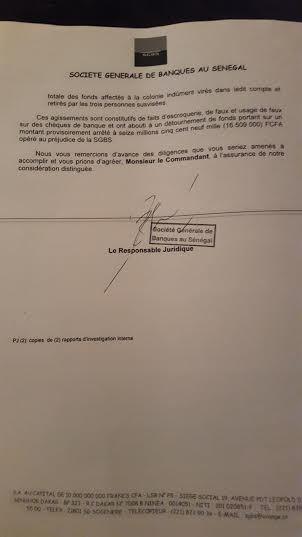 Un trou de 16.509.000 F cfa découvert à la Sgbs : A l'origine de l'arrestation de Ababacar Guèye, Salla Camara et Ababacar Dème
