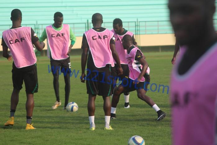 """Les images de la dernière séance d'entrainement des """"Lions"""" avant le match Afrique Du Sud"""