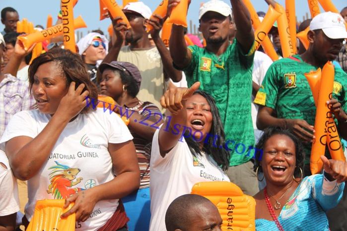 Les images de l'ambiance au stade de Mongomo avant le match contre les Bafana-Bafana