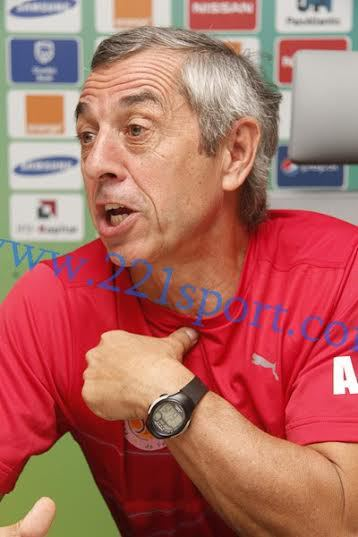 """ALAIN GIRESSE COACH DES LIONS :   """" Ce sera un match à fond...On ne jouera pas le nul.."""""""