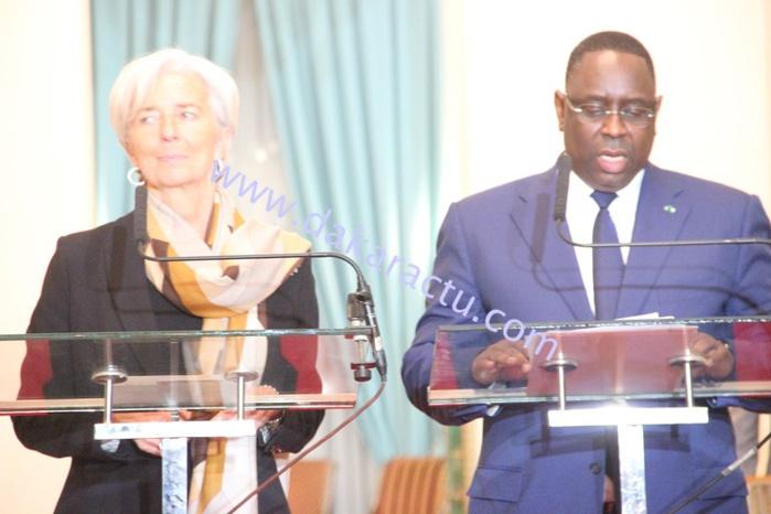 """Christine Lagarde : """" Le FMI sera aux côtés du Sénégal dans le cadre du PSE"""""""