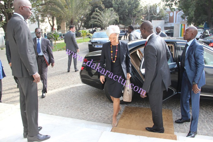 Les images de la visite de la directrice générale du FMI, Christine Lagarde à la Primature
