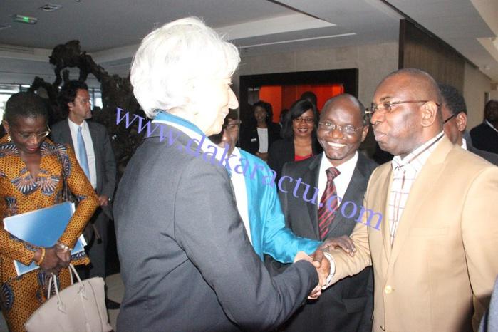 Radisson Blu :  Images de la rencontre entre la DG du FMI, Christine Lagarde et les étudiants de IAM