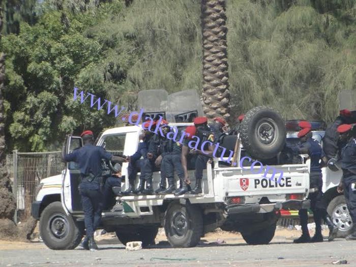 Place de l'Obélisque : le dispositif sécuritaire de la police déjà sur place
