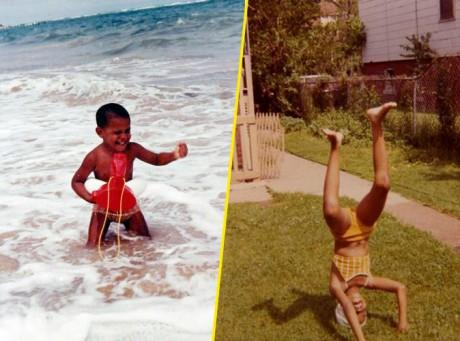 Barack et Michelle Obama : en mode photos d'enfance !