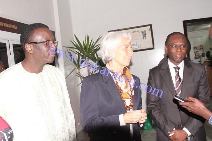 Après une visite de travail de 3 jours, la DG du FMI, Christine Lagarde est rentrée ce soir (IMAGES)