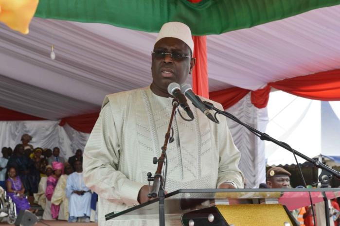 Les images de l'arrivée du président Macky Sall à Sédhiou