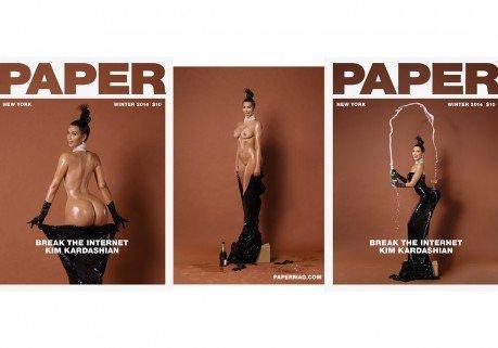 """Kanye West """"serviteur du peuple"""" revient sur les fesses nues de Kim Kardashian en une de Paper"""