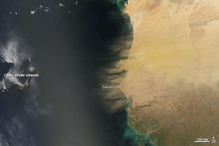 L'image satellite de la NASA sur la poussière à Dakar