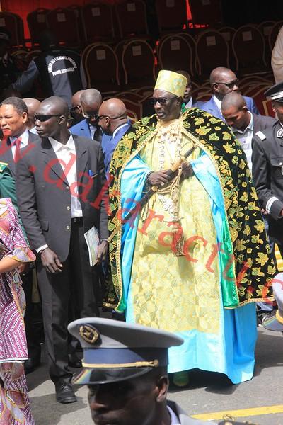 Le Grand Serigne de Dakar Pape Ibrahima Diagne était à la cérémonie de prise d'armes à la Place de l'Indépendance