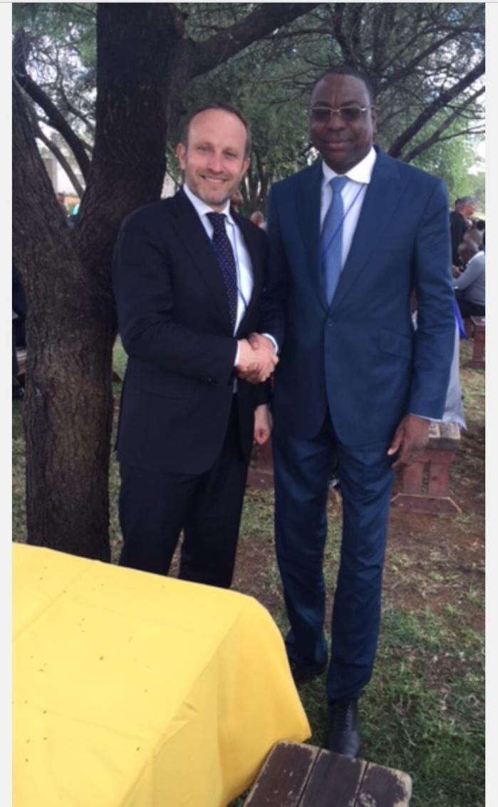Mankeur N'diaye a rencontré son homologue danois en Afrique du Sud