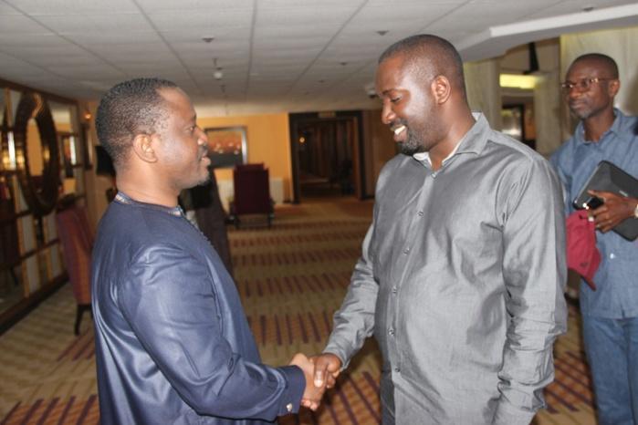 Le président de l'Assemblée Nationale Ivoirienne, Guillaume Soro avec l'équipe de DAKARACTU : les coulisses d'un entretien