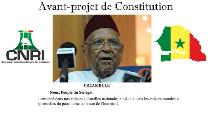 DOCUMENT : L'intégralité de l'Avant-Projet de Constitution du Sénégal réalisé par la Commission Nationale de  Réforme des Institutions (CNRI)