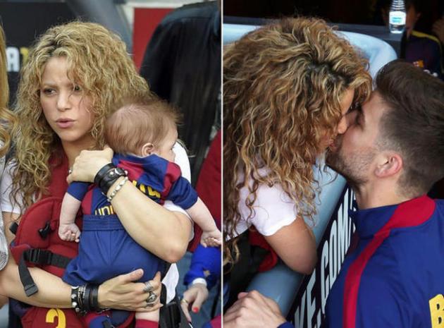 Shakira avec ses fils au stade pour supporter leur père, Gerard Piqué