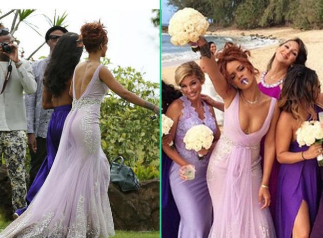 Rihanna demoiselle d'honneur ultra classe (ou presque) pour le mariage de son assistante