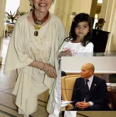Wade et ses petites-filles : Il a rencontré les filles de Karim hier