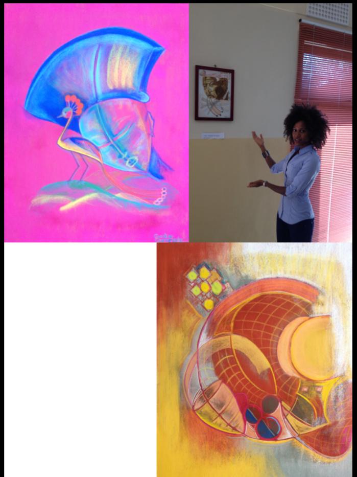 Caroline Guèye- La petite fille du « Picasso africain », une étoile montante de la peinture