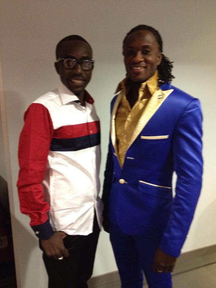 """Pape Birahim """"From Médina""""  en compagnie de son manager Beau-gars Ndiaye"""